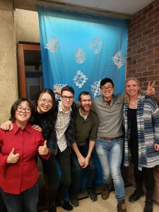 Students gather for the EPS holiday party