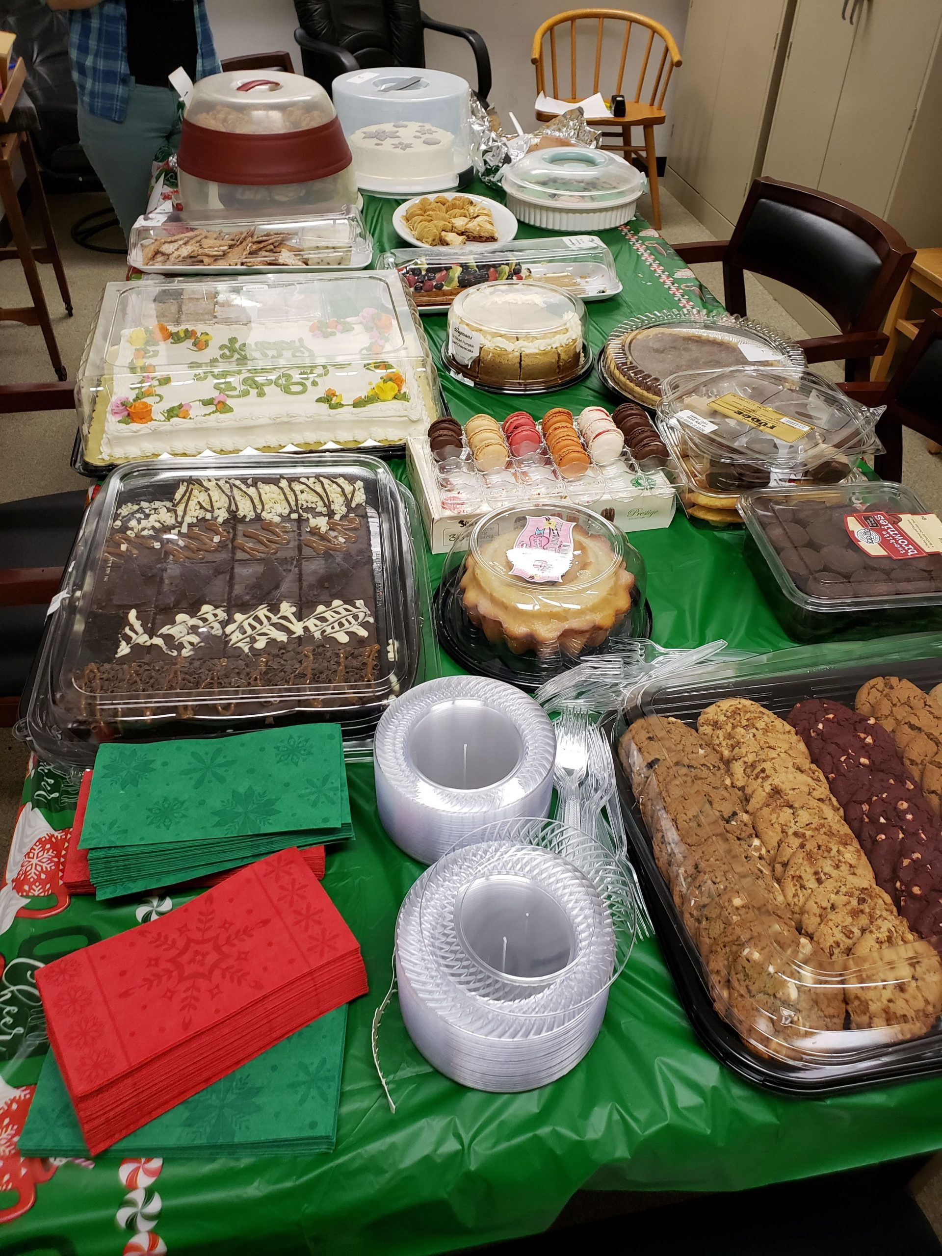 food at the EPS holiday party
